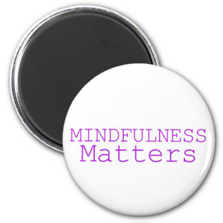 Mindfulness matters purple 6 cm round magnet