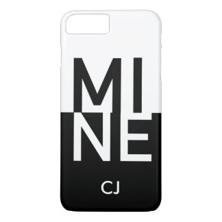 MINE + Your Initials iPhone 8 Plus/7 Plus Case