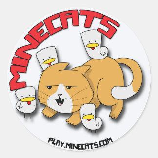 Minecats Cat and Chicks sticker