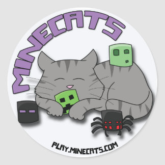 Minecats Sleeping Cat and Bugs Sticker