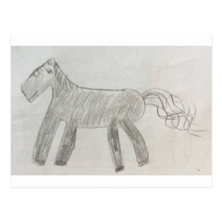 Minecraft horse postcard