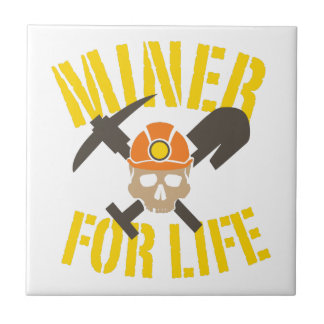 Miner For Life Small Square Tile
