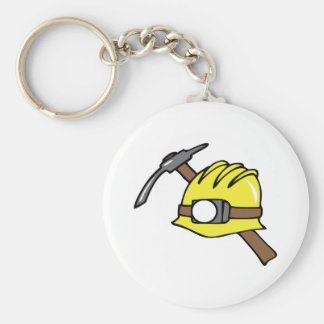 MINER HAT AND PICKAXE KEY RING