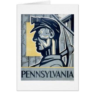 Miner In Pennsylvania 1937 WPA Card