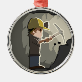 Miner Metal Ornament