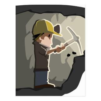 Miner Postcard