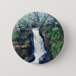 Miners Falls Upper Peninsula Michigan 6 Cm Round Badge