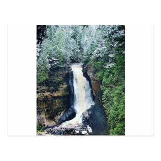 Miners Falls Upper Peninsula Michigan Postcard