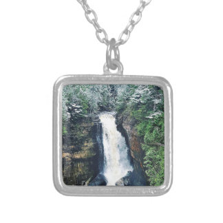 Miners Falls Upper Peninsula Michigan Silver Plated Necklace