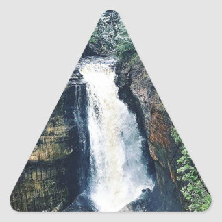 Miners Falls Upper Peninsula Michigan Triangle Sticker