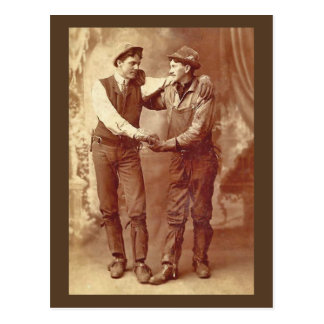 Miners in Love Postcard