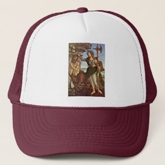Minerva And The Centaur By Botticelli Sandro Trucker Hat