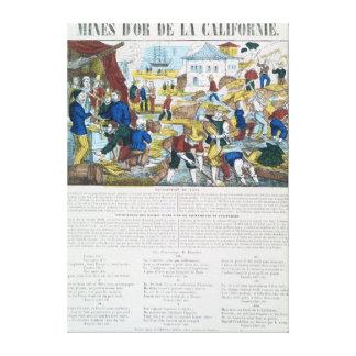 'Mines d'Or de la Californie' Gallery Wrap Canvas