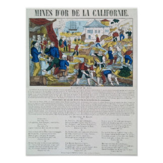 'Mines d'Or de la Californie' Poster