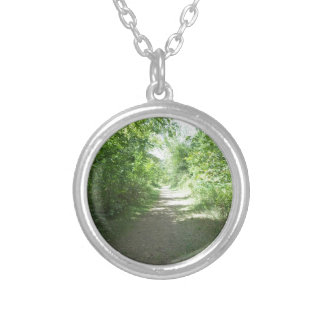 Mines of Spaine, Dubuque, Iowa Silver Plated Necklace