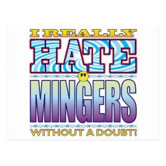 Mingers Hate Face Postcard