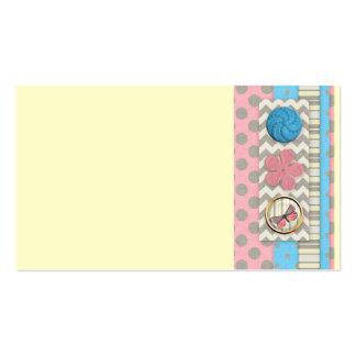 mini05 CUTE BUTTONS BUTTERFLY SCRAPBOOKING DECORAT Business Card Templates