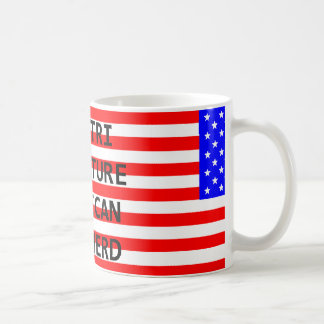 mini am shep name on flag red tri coffee mug