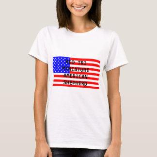 mini am shep name on flag red tri T-Shirt