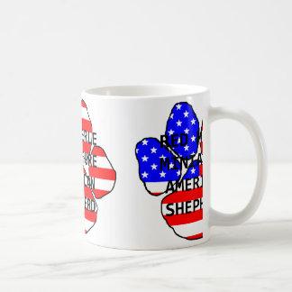 mini am shep name paw flag red merle coffee mug