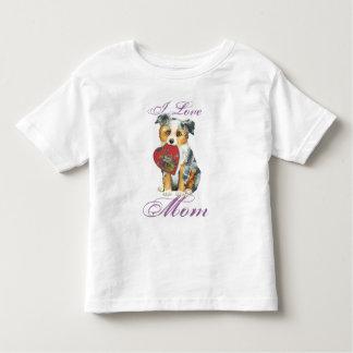 Mini American Shepherd Heart Mom Toddler T-Shirt