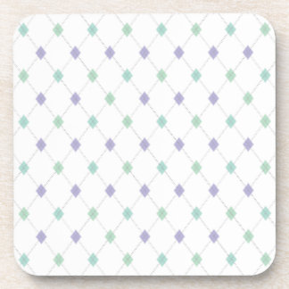 Mini Argyle - Mint & Lavender Coaster