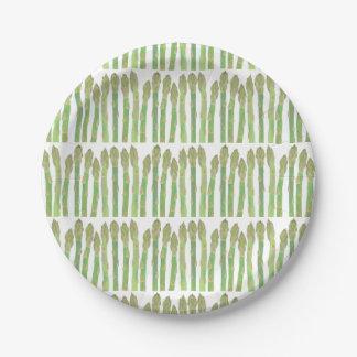 Mini Asparagus salad Paper Plate
