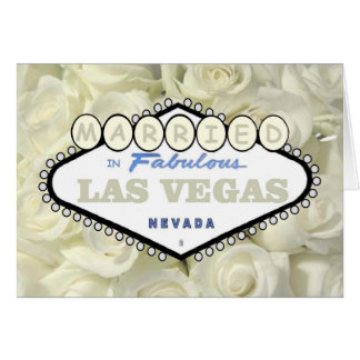Mini Baby Breath Roses MARRIED in Las Vegas Card