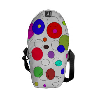 mini back pack circle's of color courier bag