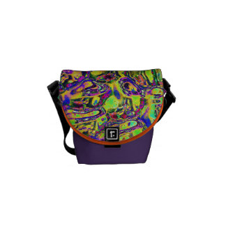 Mini bag Messenger abstract coloured image Messenger Bags