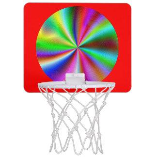 Mini Basketball Hoop - metallic circles, red back