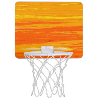 Mini Basketball Hoop - Streaky Orange & Yellow