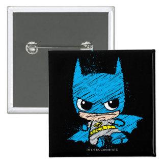 Mini Batman Sketch 15 Cm Square Badge