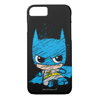 Mini Batman Sketch iPhone 8/7 Case