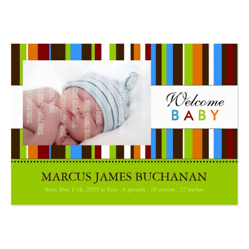 Mini Birth Announcement Cards Business Card