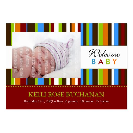 Mini Birth Announcement Cards Business Card Templates