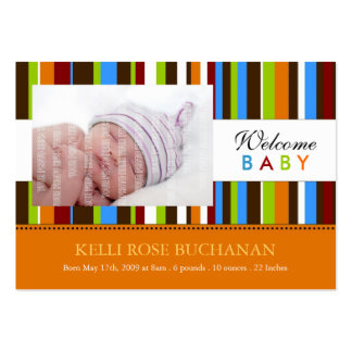 Mini Birth Announcement Cards Large Business Cards (Pack Of 100)