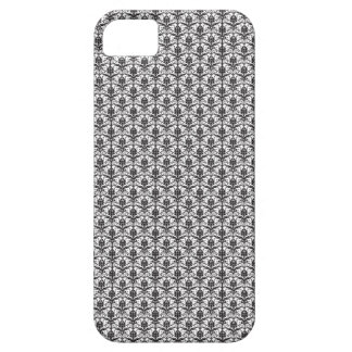 Mini Black and White Damask Pattern iPhone 5 Cases