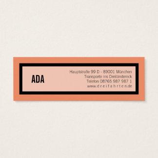 Mini black border mini business card