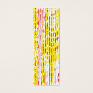 Mini Bookmark cards, yellow and orange pattern Mini Business Card