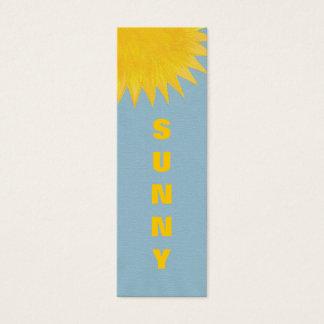 Mini Bookmark cards, yellow orange Sunny Sun Mini Business Card