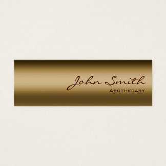 Mini Bronze Metal Apothecary Business Card