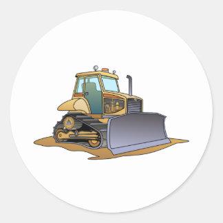 Mini Bulldozer Round Stickers