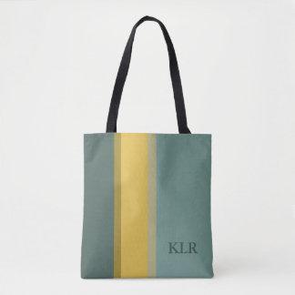 Mini Bus Blues Palette Stripes Monogram Tote Bag