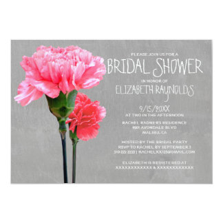 Mini-Carnation Bridal Shower Invitations