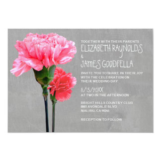 Mini-Carnation Wedding Invitations