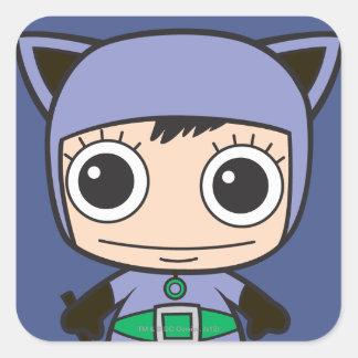 Mini Cat Woman Square Sticker