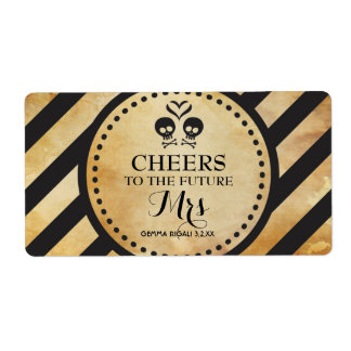 Mini Champagne Label Gothic Shower Favor
