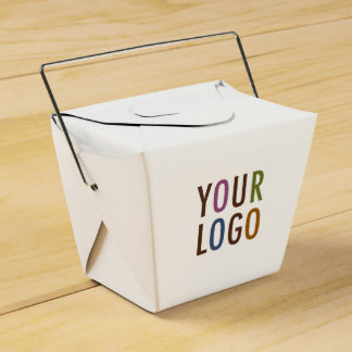 Mini Chinese Take Out Box with Custom Logo & Text Party Favour Boxes