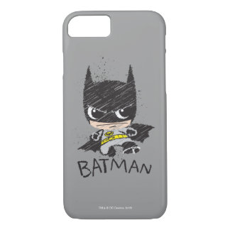 Mini Classic Batman Sketch iPhone 8/7 Case